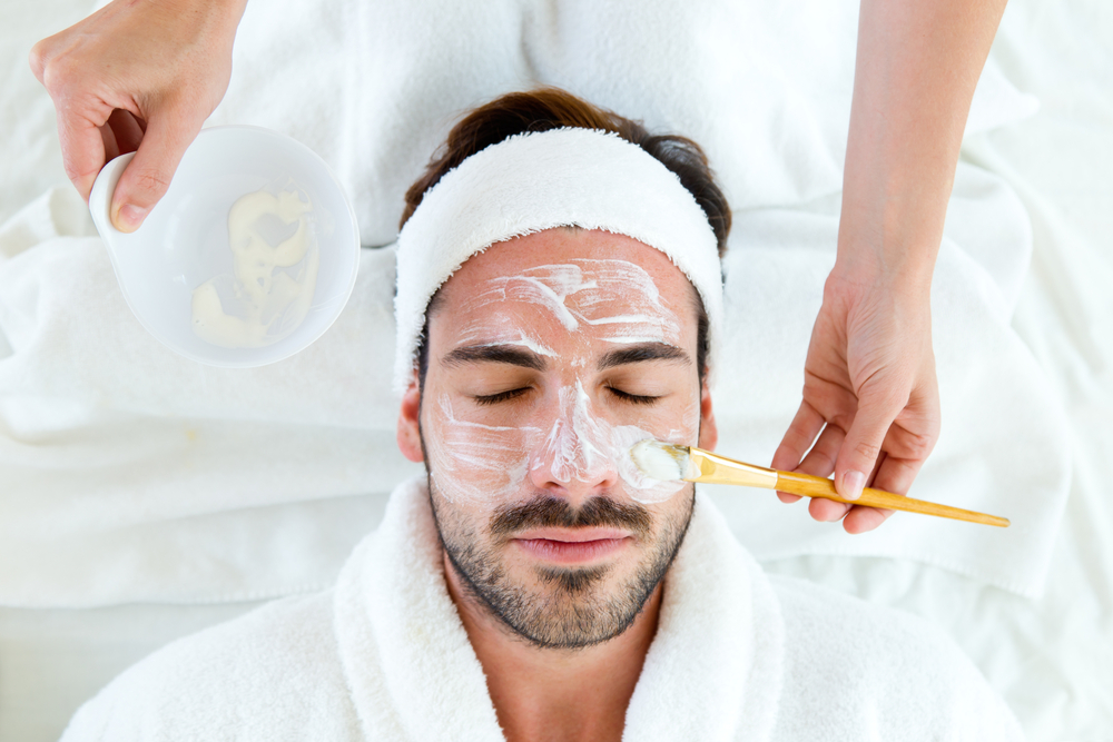 male facial treatment
